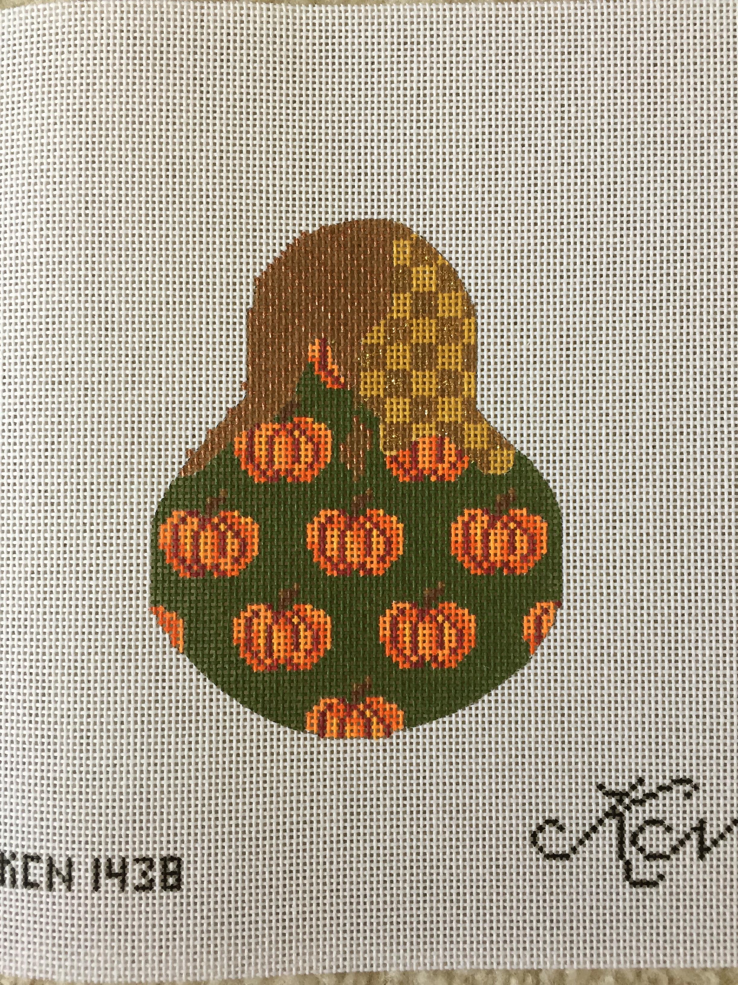 Pumpkin Patterned Pear