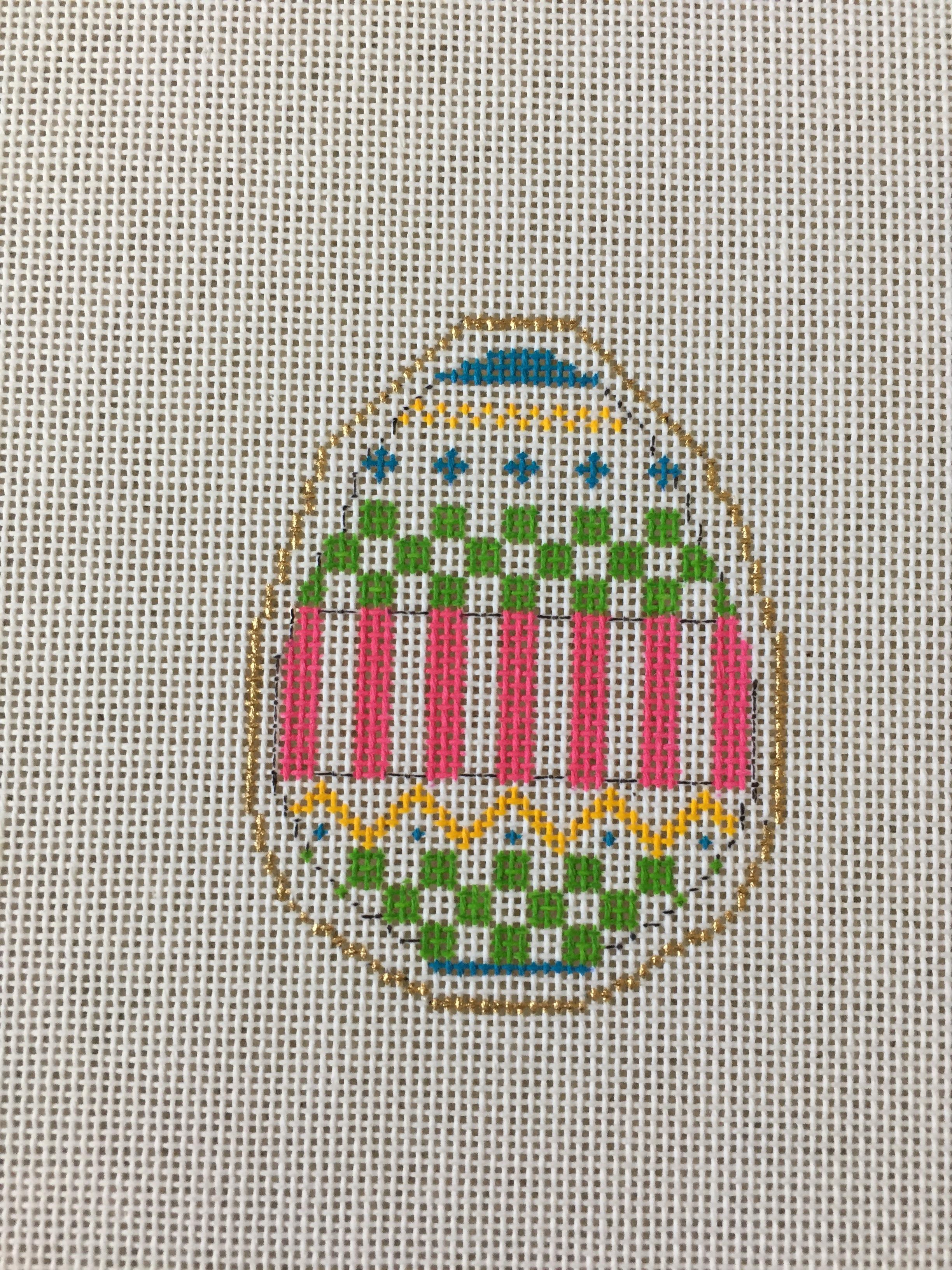 Checkerboard-Stripe Egg