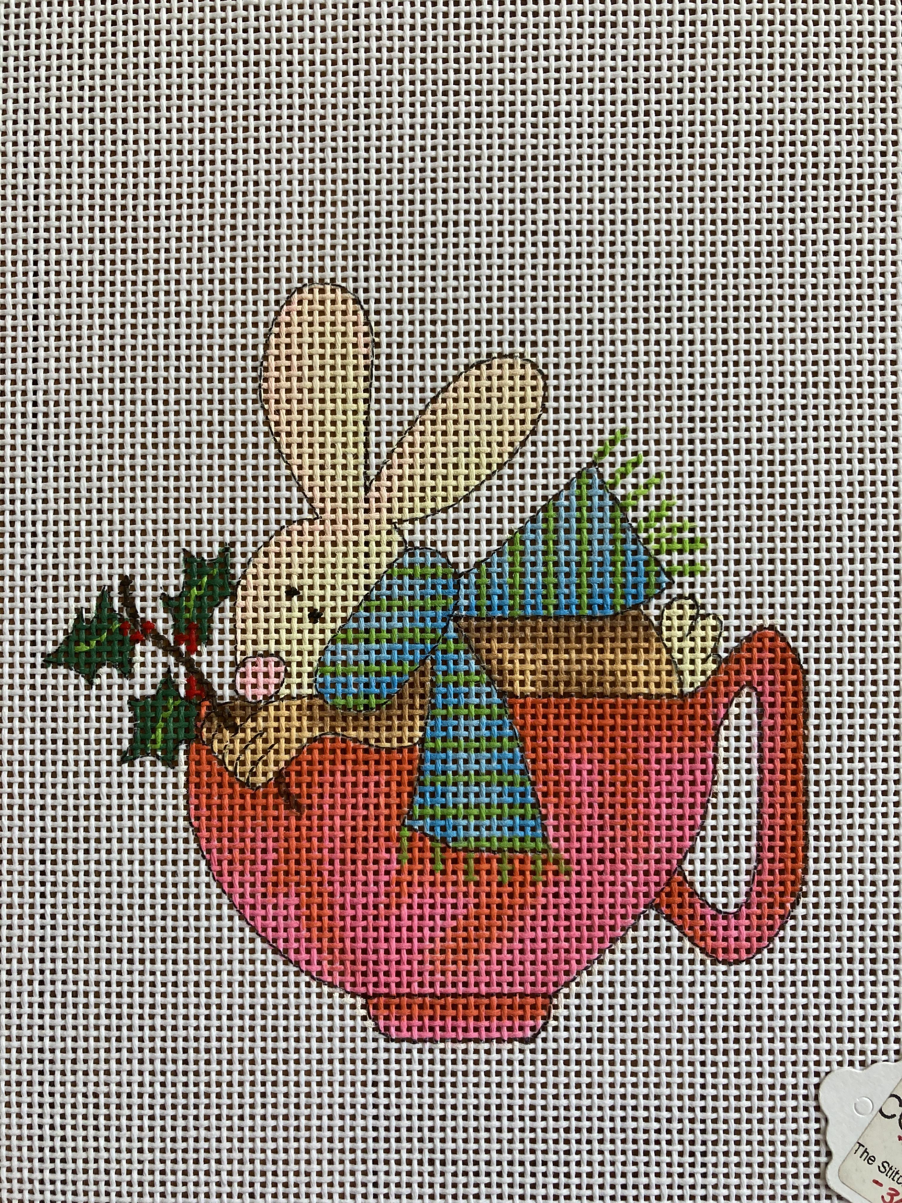Bunny in a Teacup Ornament